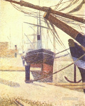 harbor in honfleur 1886 Oil Paintings